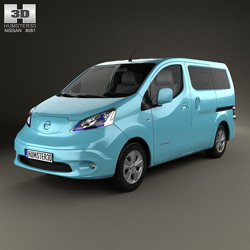 nissan e nv200 evalia 2014 3d model cgtrader. Black Bedroom Furniture Sets. Home Design Ideas