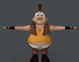 fat boy 3d model rigged game-ready