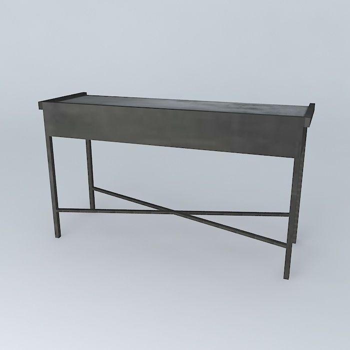 console edison maisons du monde 3d model max obj 3ds fbx. Black Bedroom Furniture Sets. Home Design Ideas