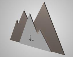 Modern clock 3D asset low-poly