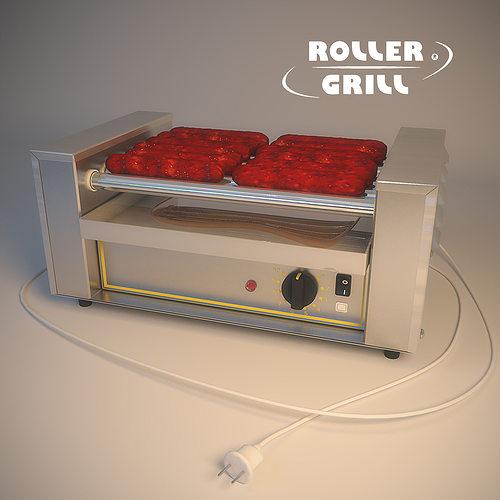 Roller Grill Rg5 3D Model MAX OBJ MTL