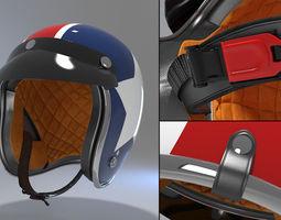 3d retro motorcycle helmet 2