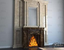 3D model Fireplace heat