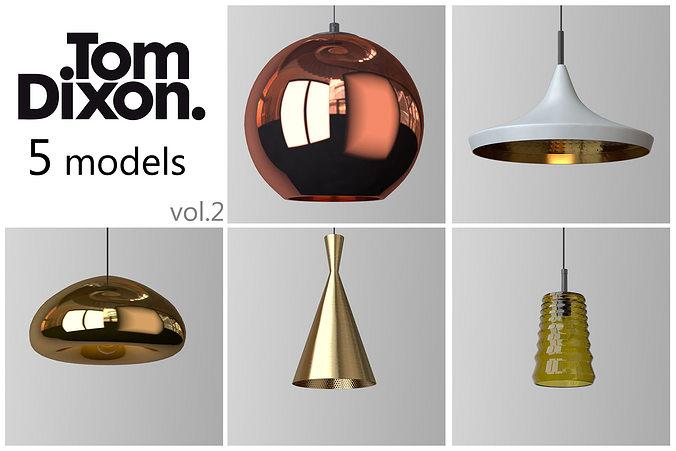 tom lighting. TOM DIXON Lighting Set 2 3D Model Tom R