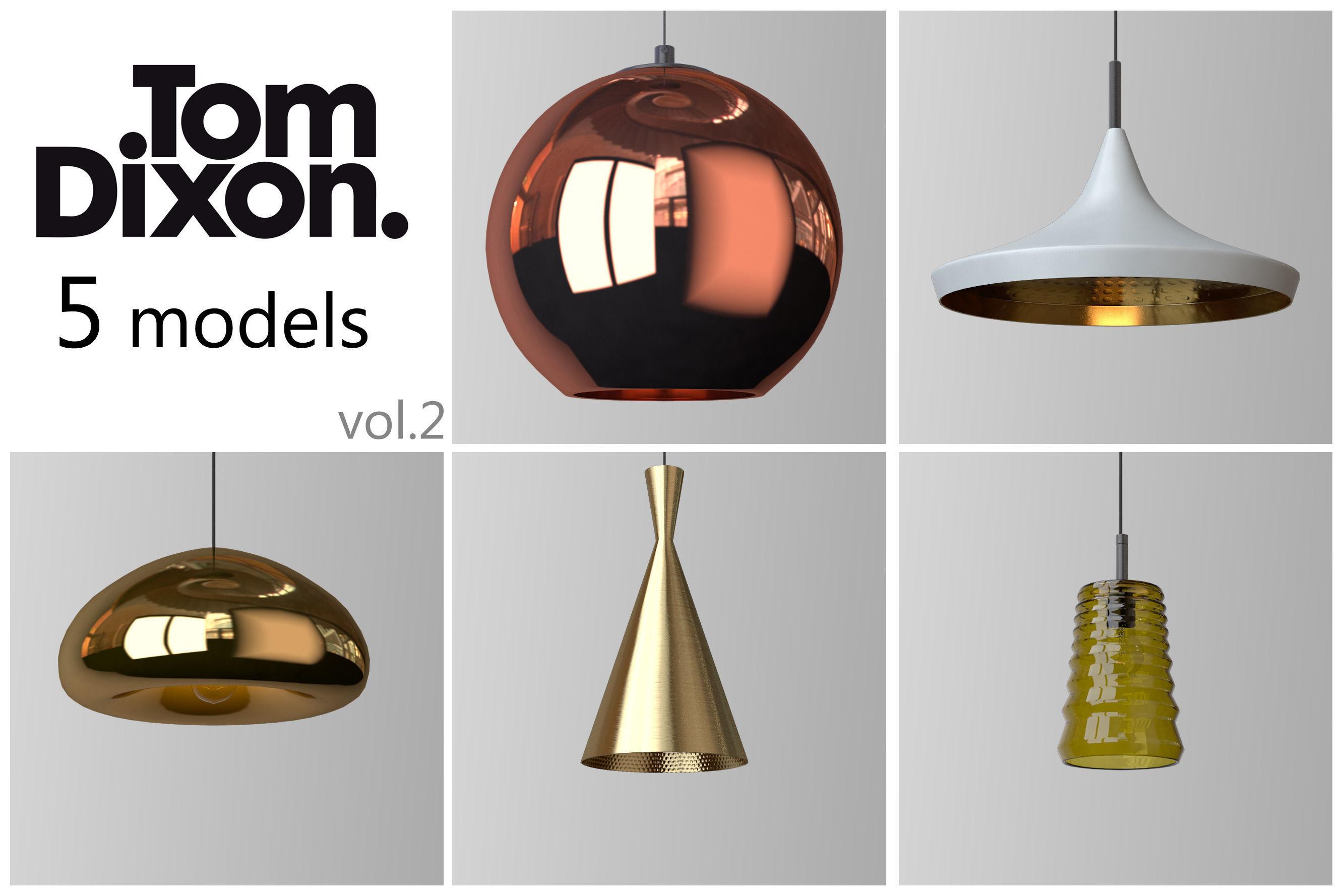 D Model Tom Dixon Lighting Set Cgtrader Tom Dixon Lighting Set D Model Max  With Lampe Tom Dixon