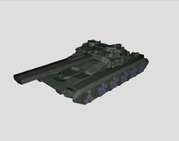 advanced tank 3d model dae