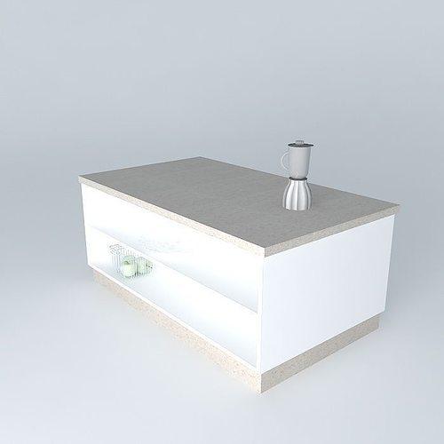 Mobile Kitchen Island 3d Model: 3D Kitchen Island