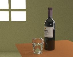 wine bottle 3d model