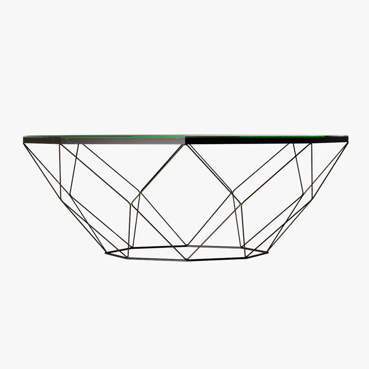 Antique Brass Glass Coffee Table Geometric Antique Brass Coffee Table With Glass Top 3d Model Max