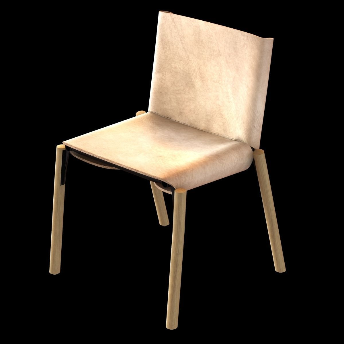 kristalia 1085 edition hide leather chair 3d model max obj mtl 3ds fbx  unitypackage prefab ...