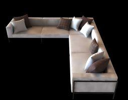 kettal landscape right corner module sofa 3d