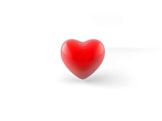heart 3d model low-poly obj mtl fbx c4d 1
