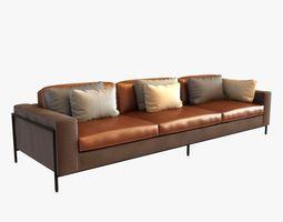 ralph pucci upholstery 3 seat sofa 3D