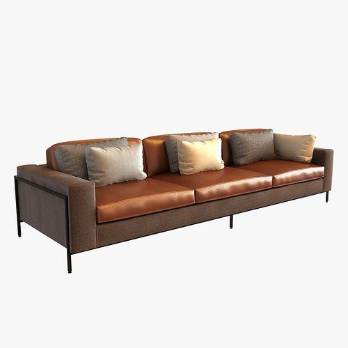 Ralph Pucci Upholstery 3 Seat Sofa 3d Cgtrader