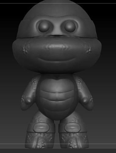 ninja turtle chibi 3d model stl 1