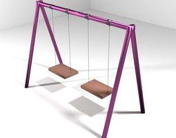 3d model playground element - swing