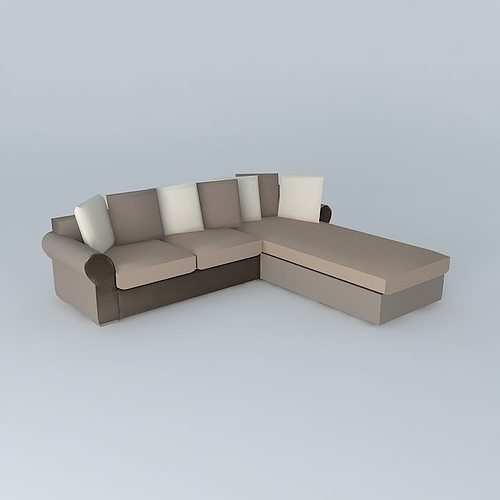 antigua 5 seater convertible sofa maisons du monde 3d model max obj 3ds fbx stl dae. Black Bedroom Furniture Sets. Home Design Ideas