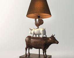 Pop Art Fun Farm Lamp 3D