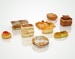 game-ready cookie collection 3d asset