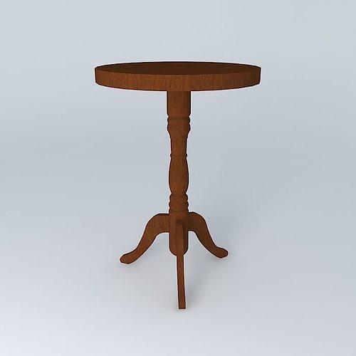 pedestal luberon maisons du monde 3d model cgtrader. Black Bedroom Furniture Sets. Home Design Ideas