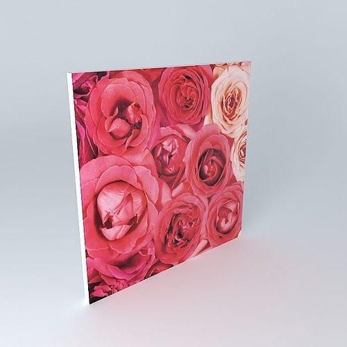 3d model la toile rosa maisons du monde cgtrader