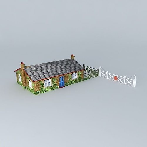 Eco rail track gate keepers cottage old steam days free 3d for Classic house tracks list