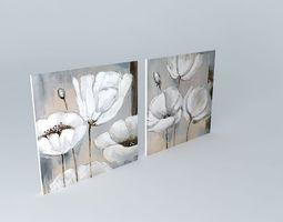 the flora canvas maisons du monde 3d