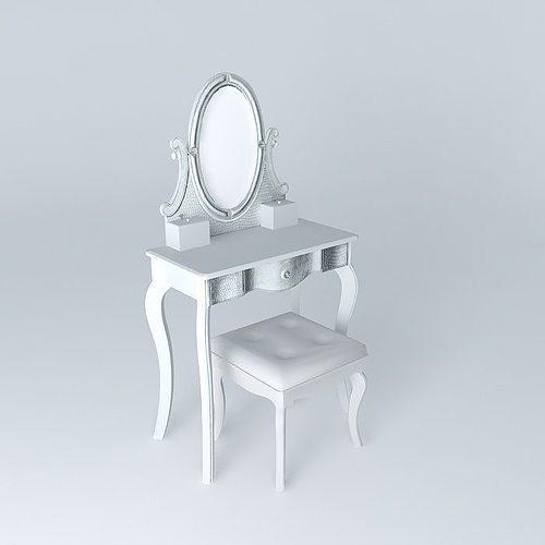 diamant dressing table maisons du monde 3d cgtrader. Black Bedroom Furniture Sets. Home Design Ideas