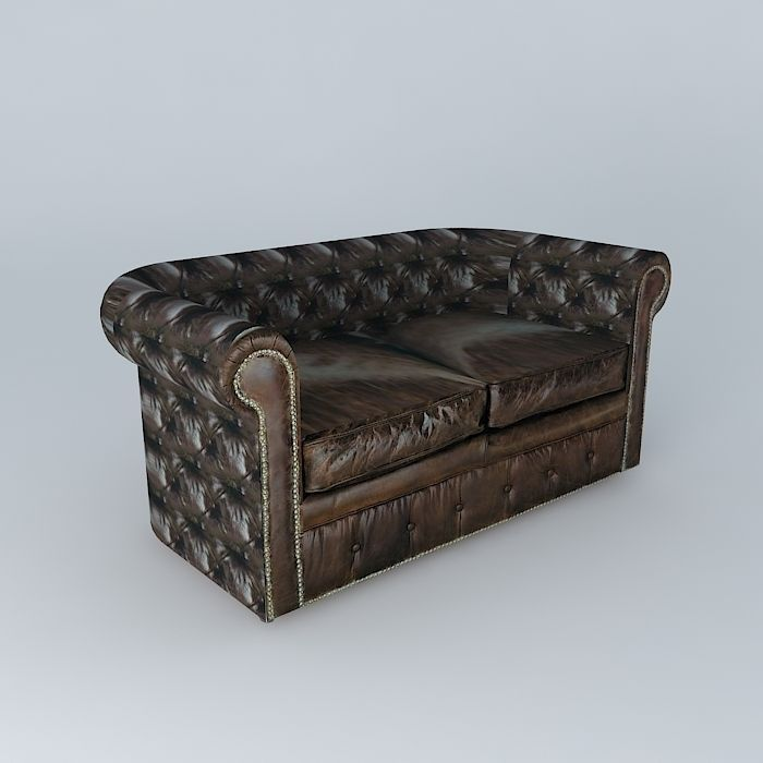 VINTAGE leather sofa 2p brown houses of the world