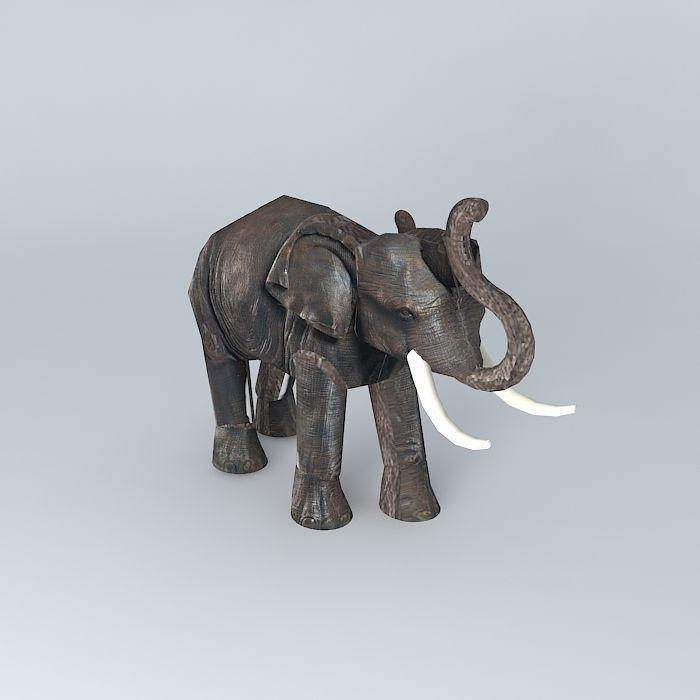 Elephant Maisons du monde 3D model   CGTrader
