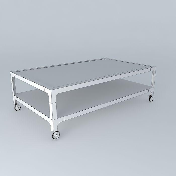 Coffee table newton maisons du monde 3d model max obj 3ds - Table factory maison du monde ...
