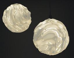 Flo Hanging light Shade Big 3D Model
