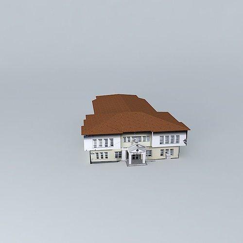 cultural center 3d model max obj mtl 3ds fbx stl dae 1