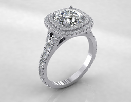 3d solitaire Ring Model