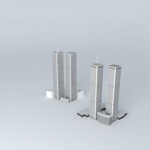 3d Model Rebuild The Twin Towers Cgtrader