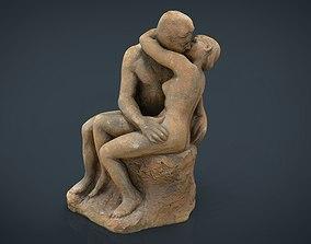 The Kiss Rodin sculpture 3D model