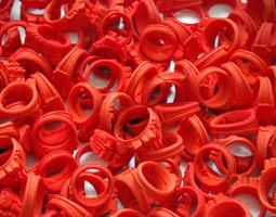 I Love Holland Rings 4xD20 40xD18 44xD16 3D Model