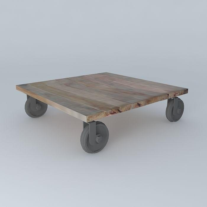 Coffee table loft maisons du monde d model max obj ds fbx for Set de table maison du monde