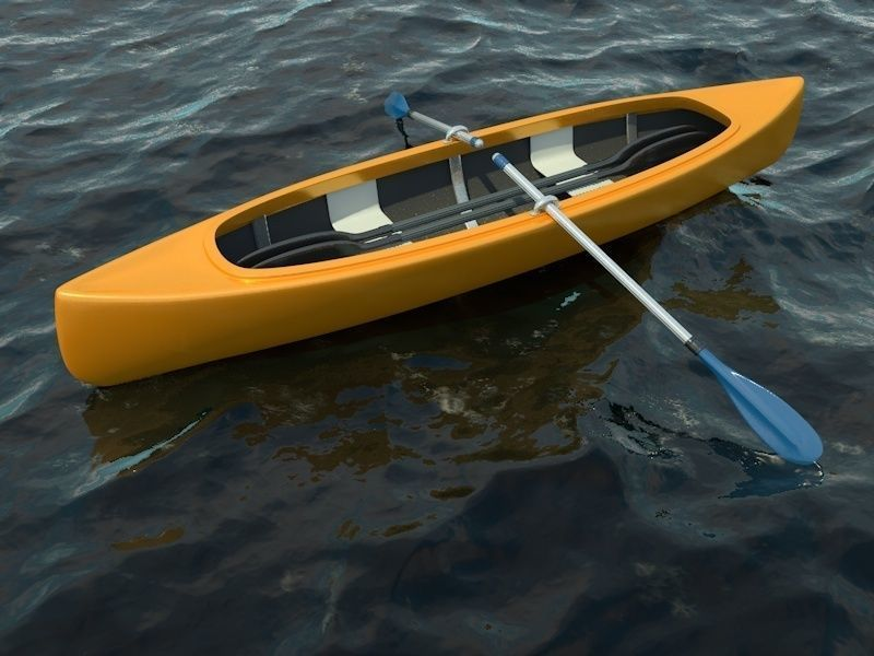 Canoe Boat with 2 Types of Oars