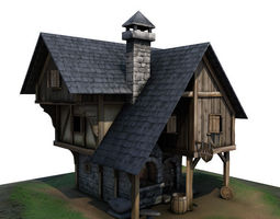 3D asset Medieval Building 01 Blacksmith Forge