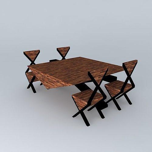 Kitchen set free 3d model max obj 3ds fbx stl dae for Kitchen set 3ds max