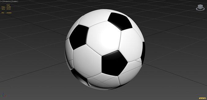 soccer ball high poly 3d model max obj mtl 1