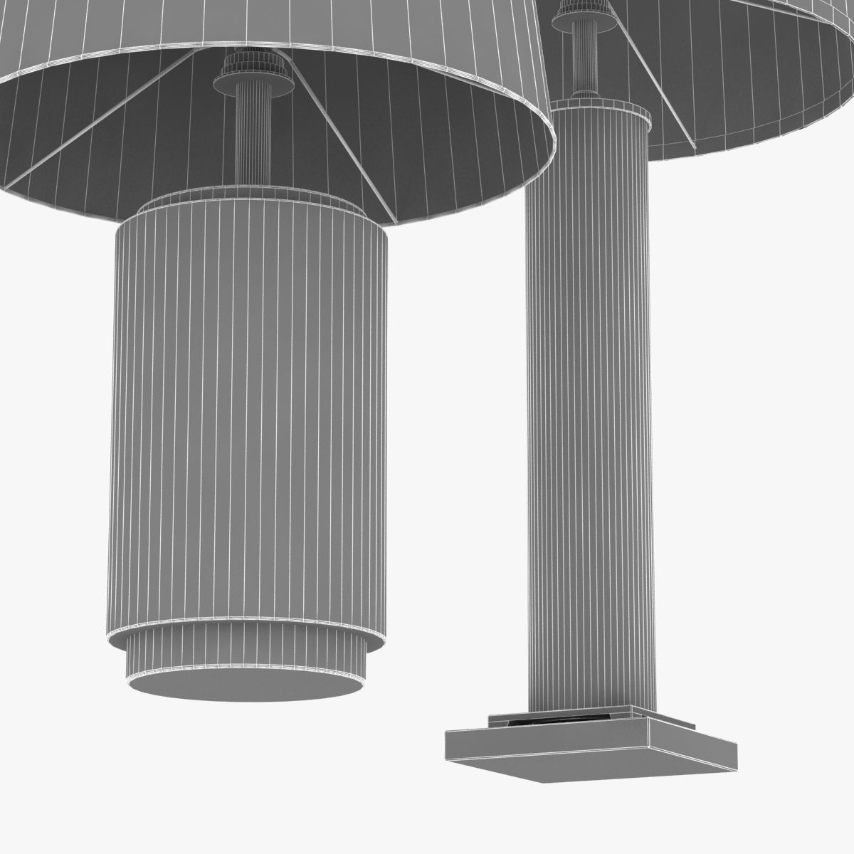 Charming ... Restoration Hardware French Column Glass Table Lamp 3d Model Max Obj  3ds Fbx Mtl 7 ...