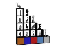 Kartell Polvara Modular Bookshelf 3D Model