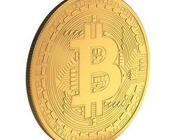 digital 3D model Bitcoin