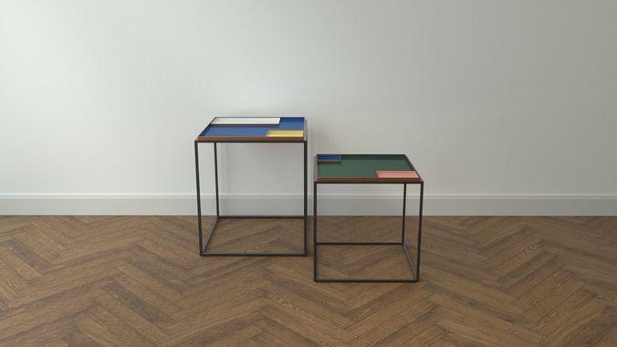 design side table fama 3d model low-poly obj mtl 3ds fbx c4d dxf stl 1