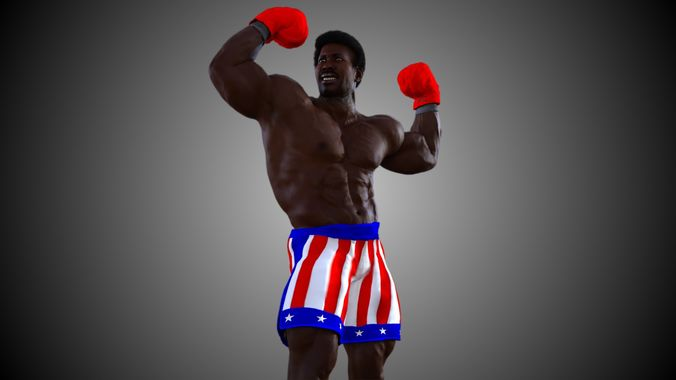 apollo creed 3d model rigged animated max obj mtl 3ds fbx c4d dae 1