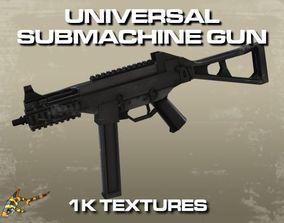 3D asset VR / AR ready UNIVERSAL SUBMACHINE GUN