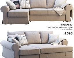 3D model Ikea Backabro 2 sofas