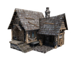 Medieval Building 14 Blacksmith Forge 3D model